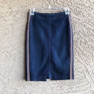 H&M Skirts - H&M DIVIDED Denim Jean Sporty Stripe Pencil Skirt